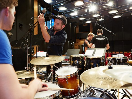 Arbeit in kleinen Gruppen beim Recording